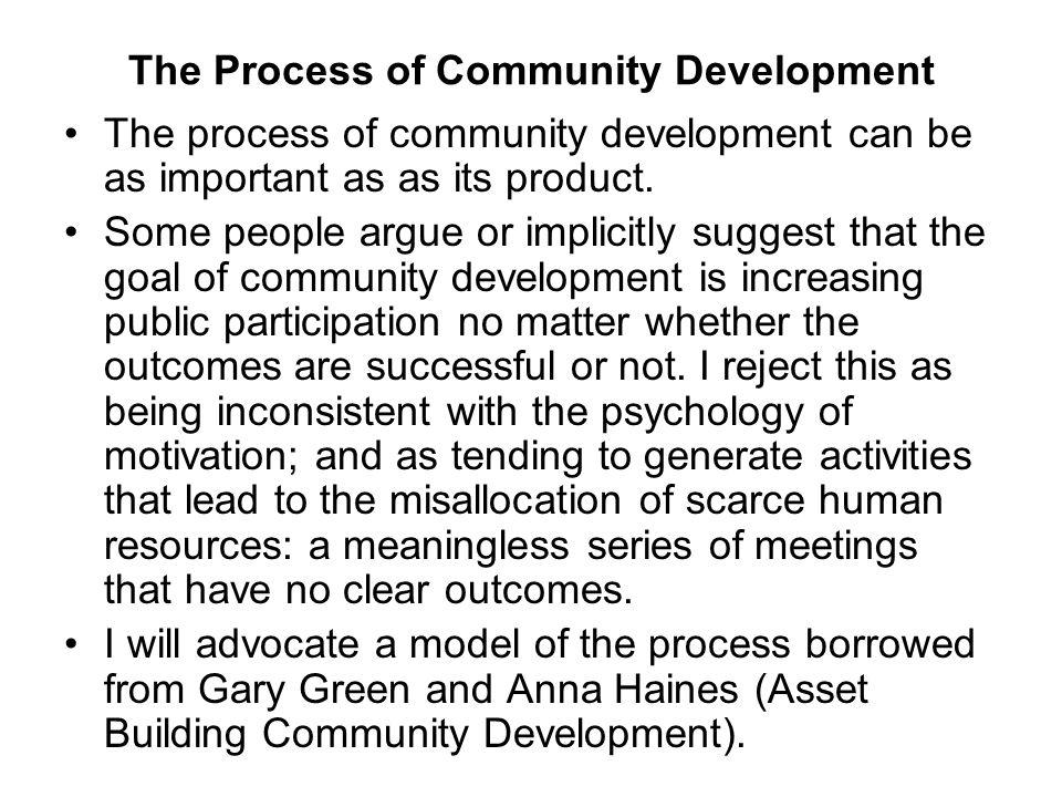 The Process of Community Development