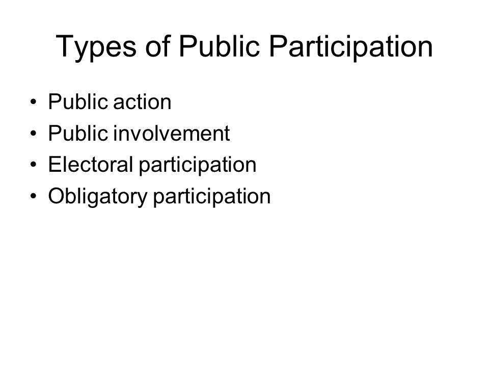 Types of Public Participation