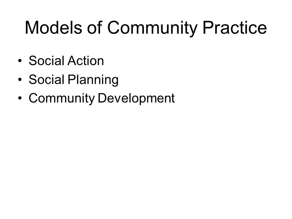 Models of Community Practice