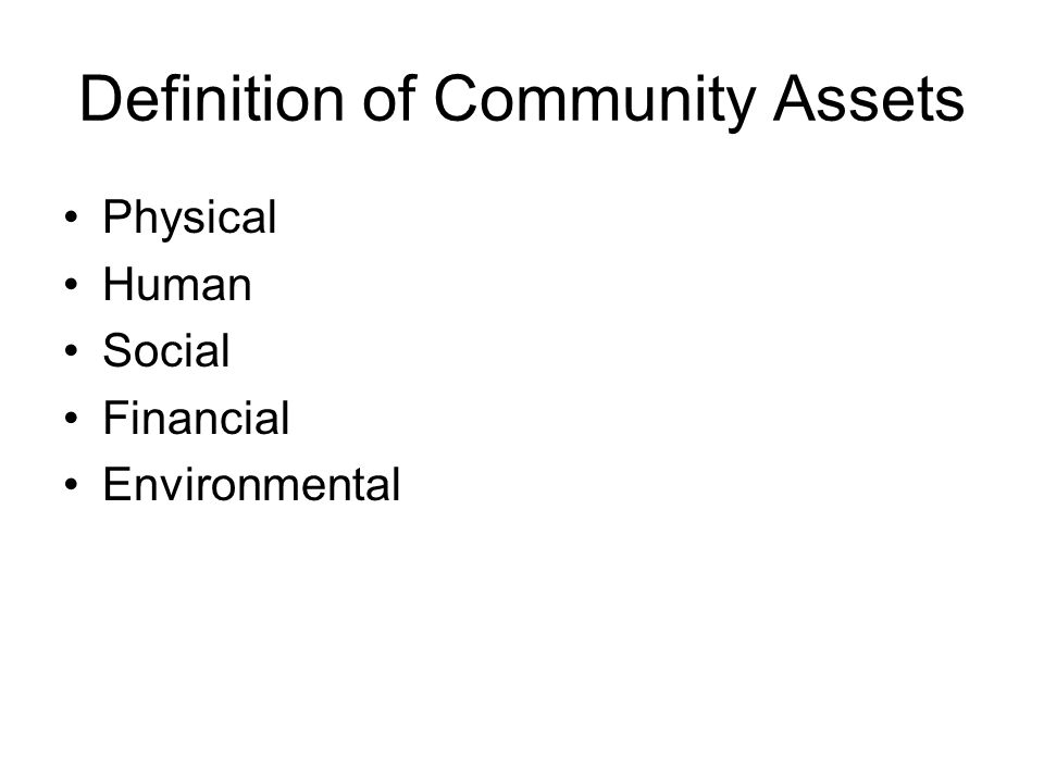 Definition of Community Assets