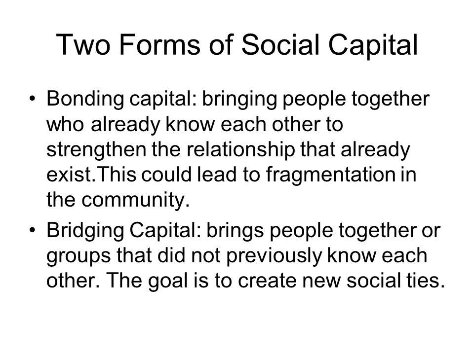 Two Forms of Social Capital