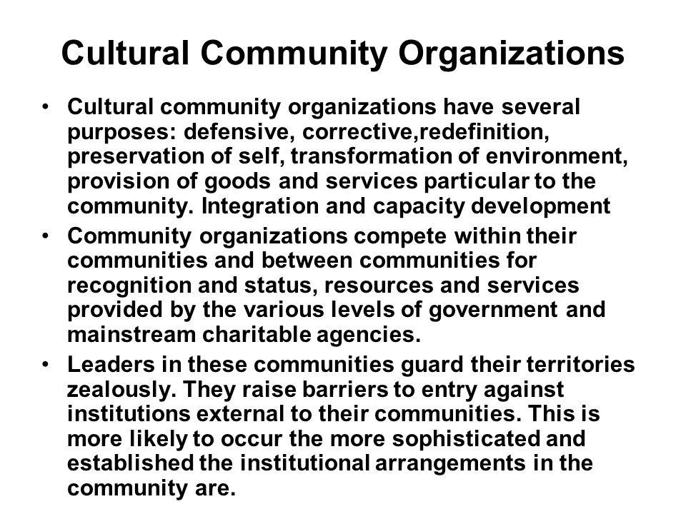 Cultural Community Organizations