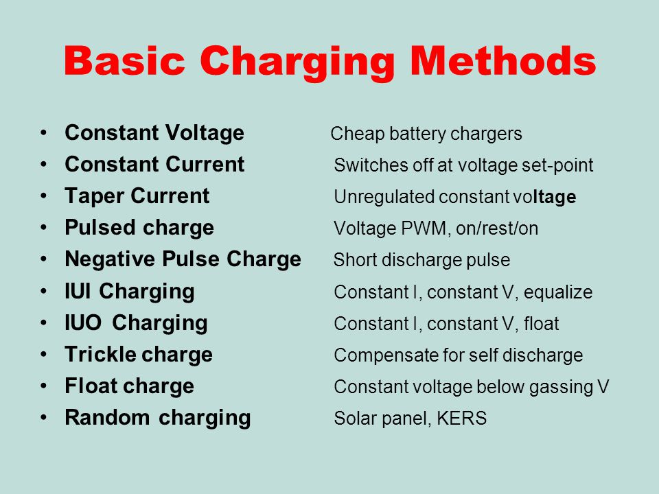 Basic Charging Methods