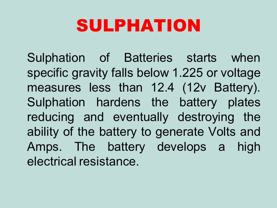 SULPHATION
