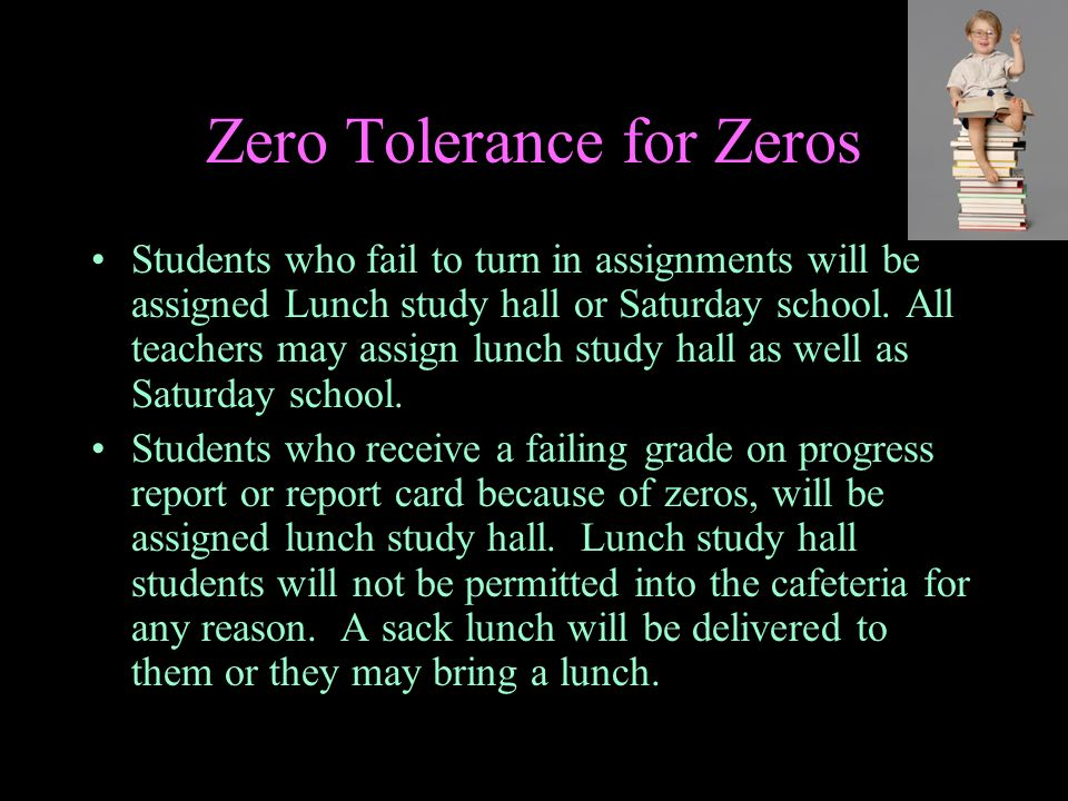 Zero Tolerance for Zeros