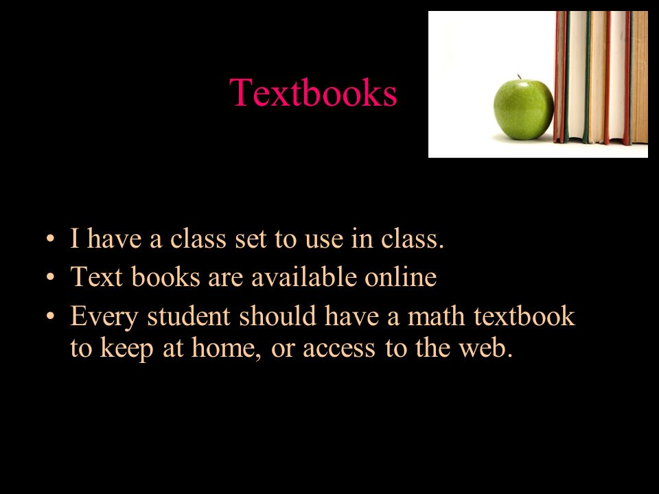 Textbooks I have a class set to use in class.