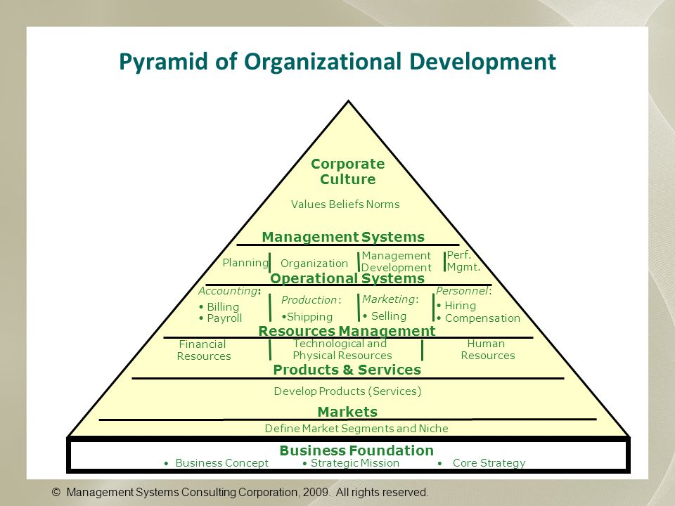 Pyramid of Organizational Development