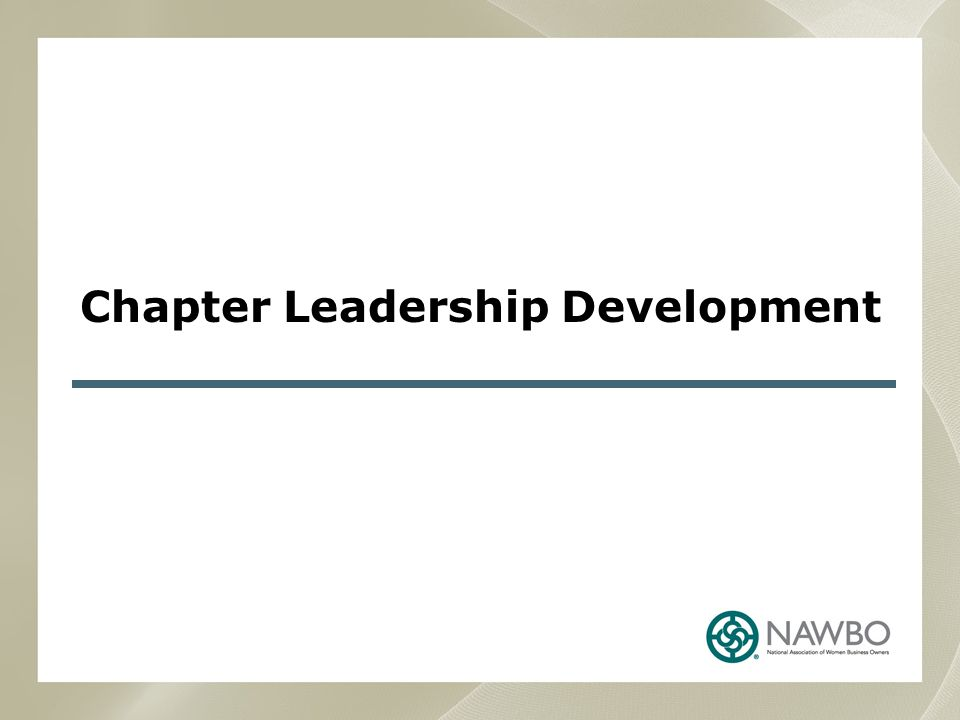 Chapter Leadership Development