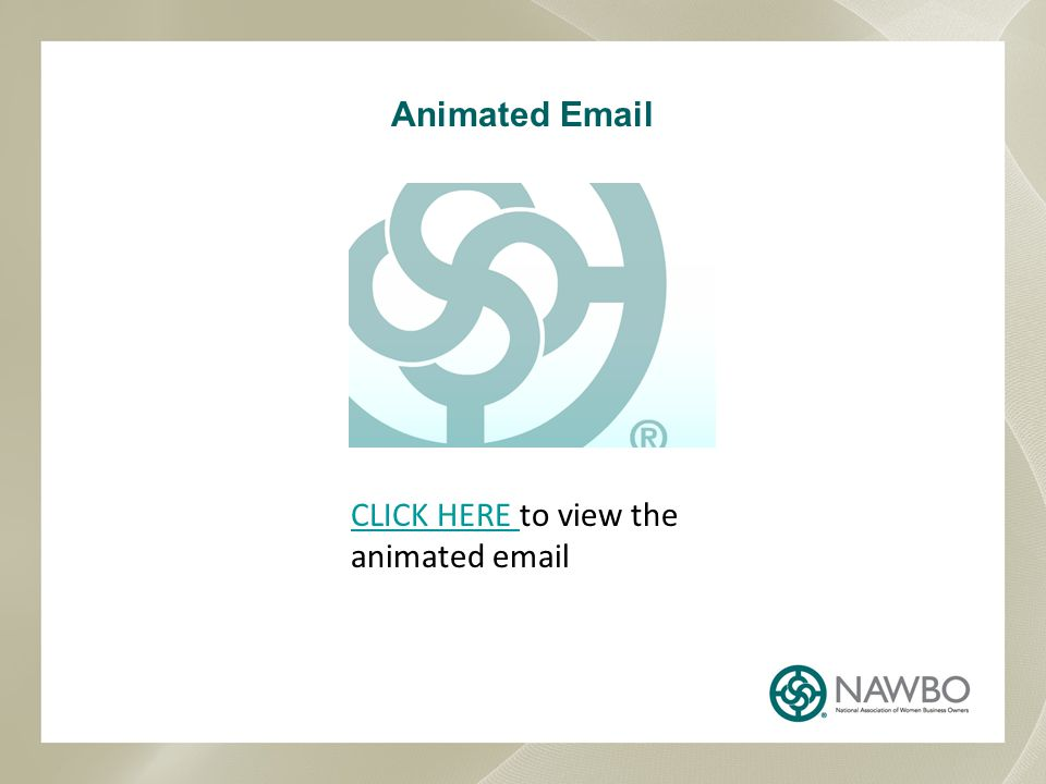 Animated Email CLICK HERE to view the animated email