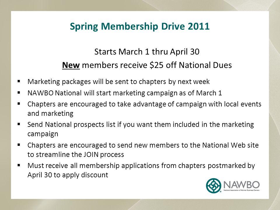 Spring Membership Drive 2011