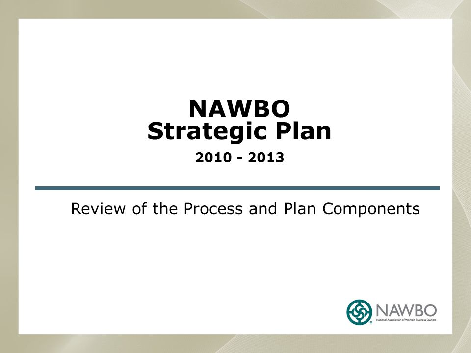 Review of the Process and Plan Components