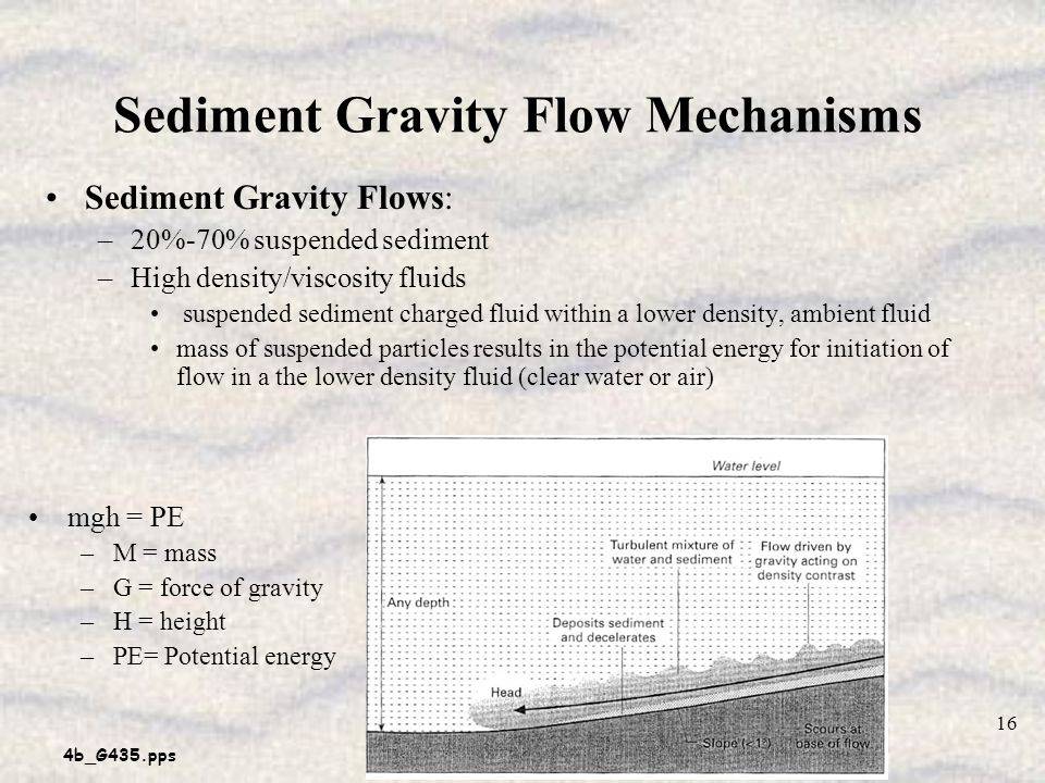 Sediment Gravity Flow Mechanisms