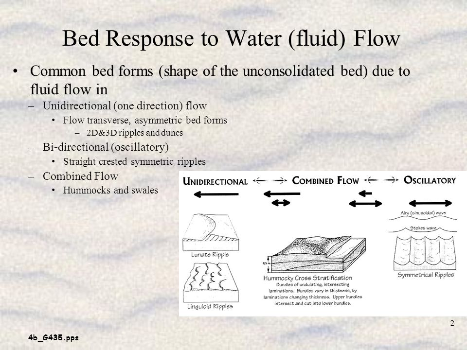 Bed Response to Water (fluid) Flow