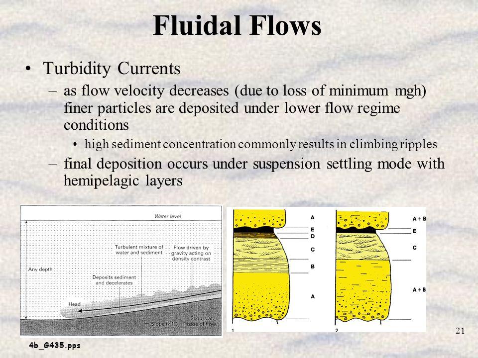 Fluidal Flows Turbidity Currents