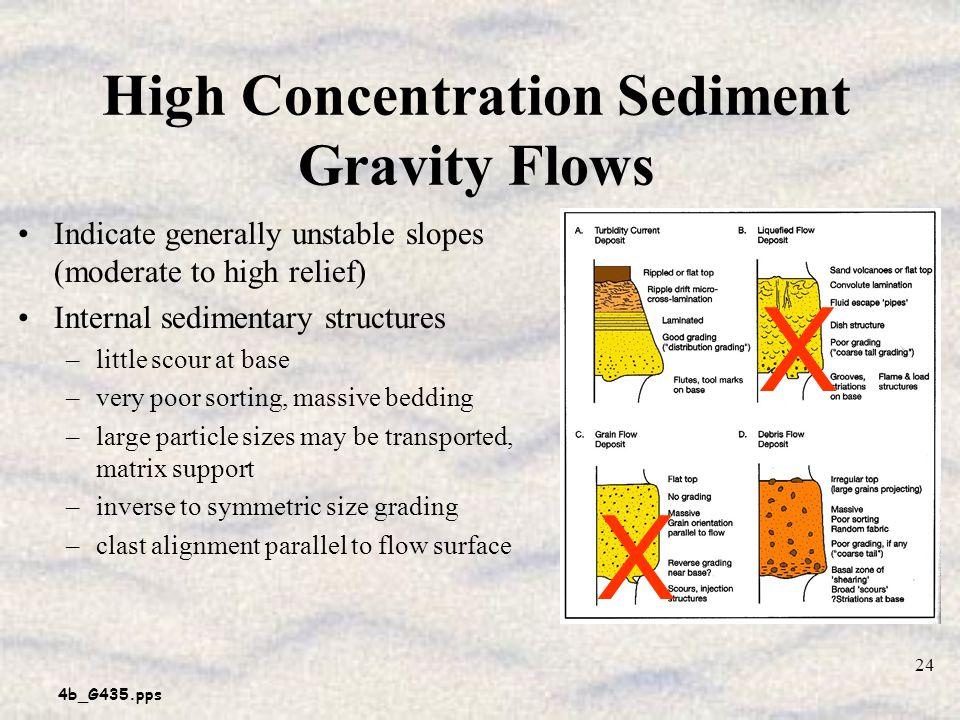 High Concentration Sediment Gravity Flows