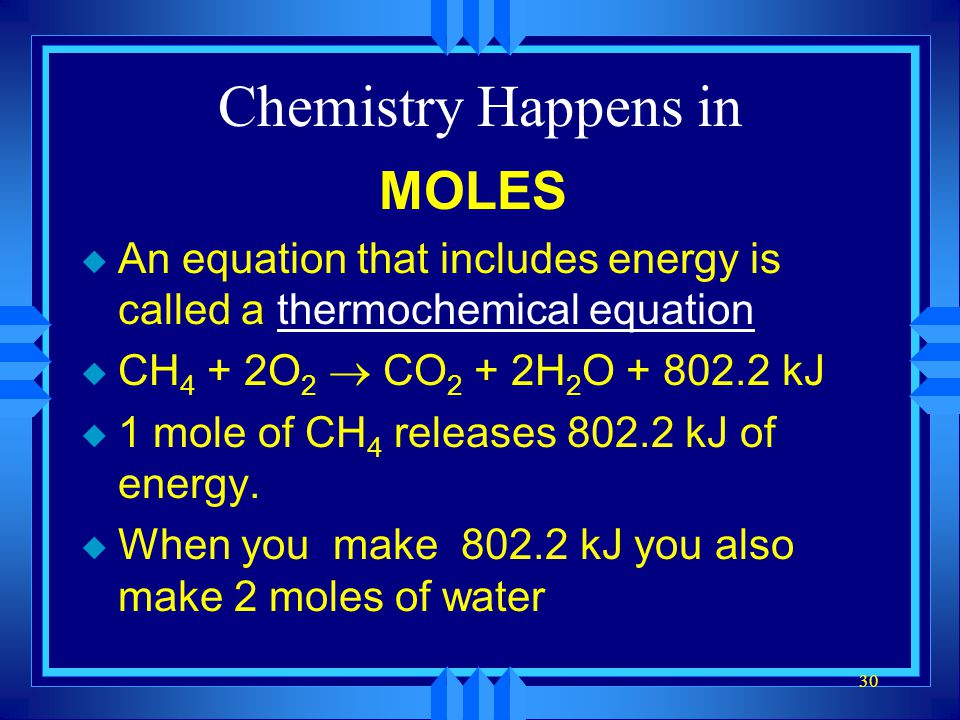 Chemistry Happens in MOLES