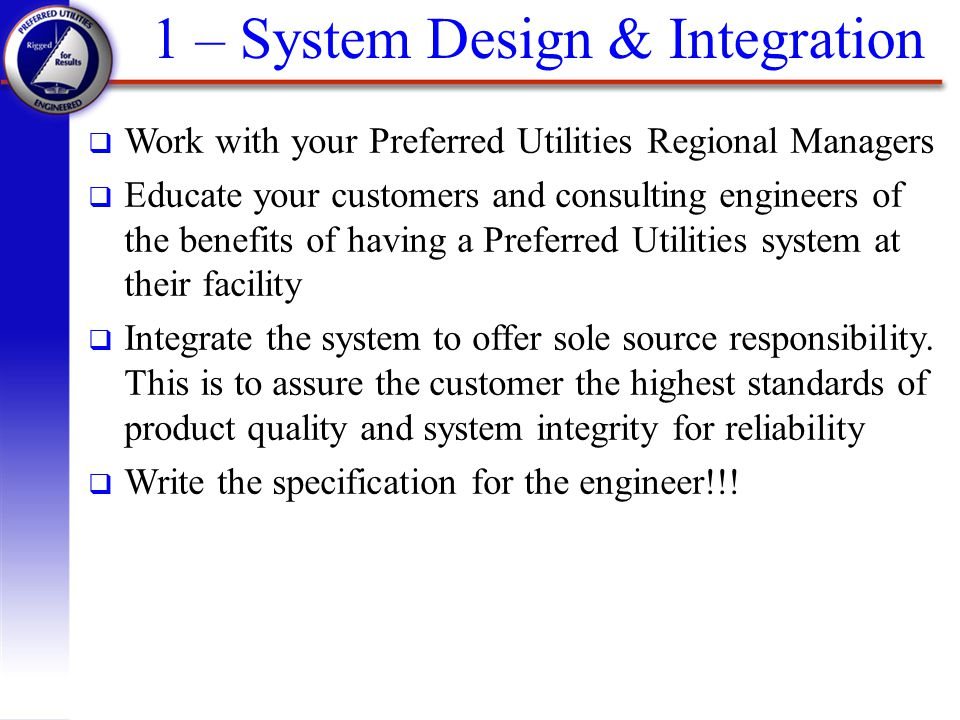 1 – System Design & Integration