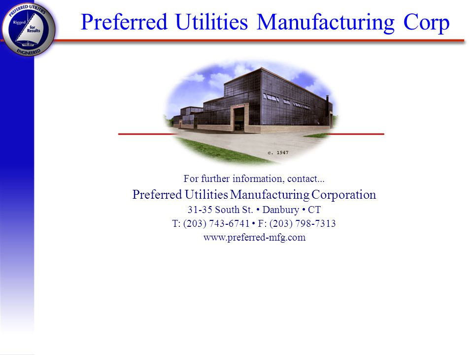 Preferred Utilities Manufacturing Corp