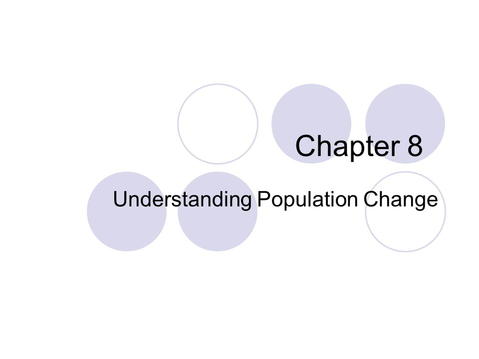 Understanding Population Change