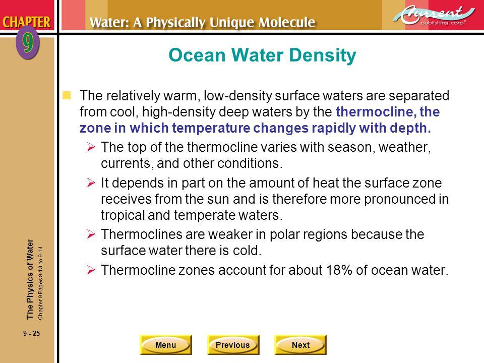 Ocean Water Density