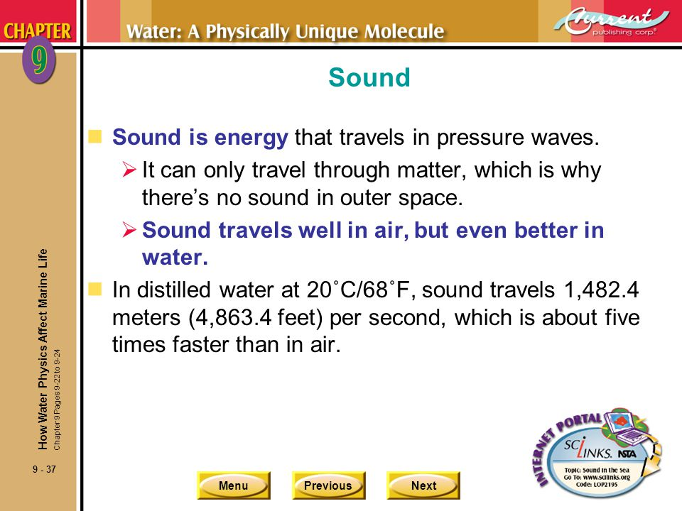 Sound Sound is energy that travels in pressure waves.