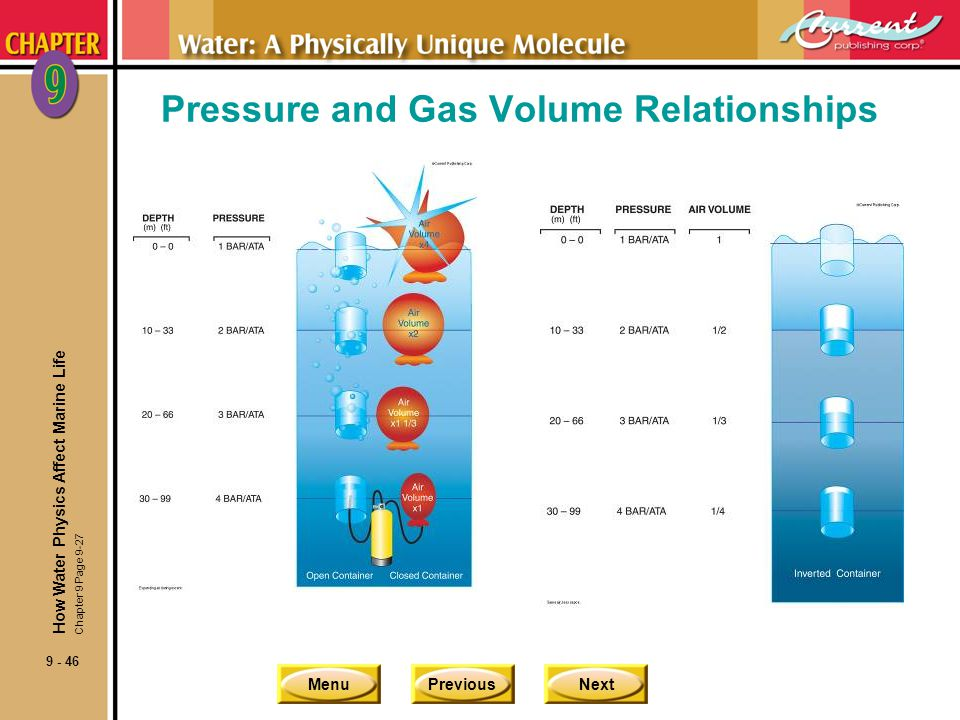 Pressure and Gas Volume Relationships