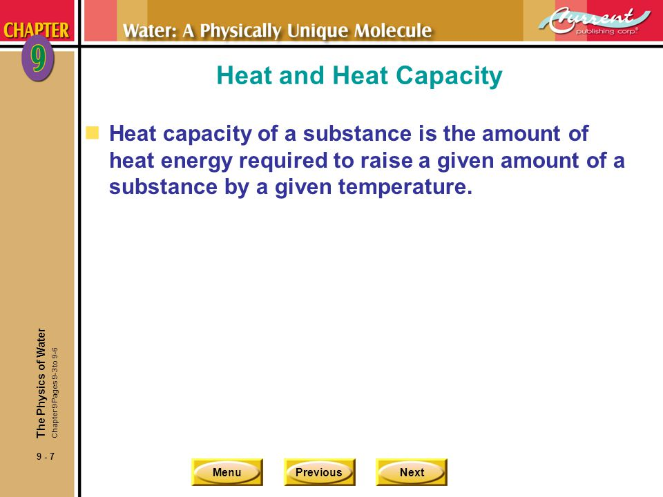 Heat and Heat Capacity