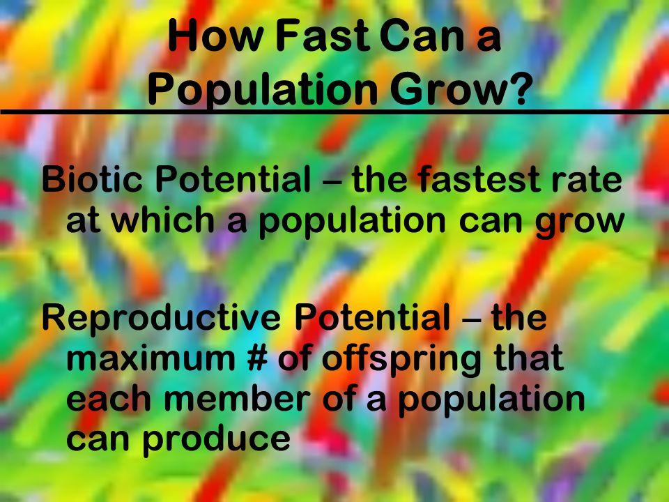 How Fast Can a Population Grow