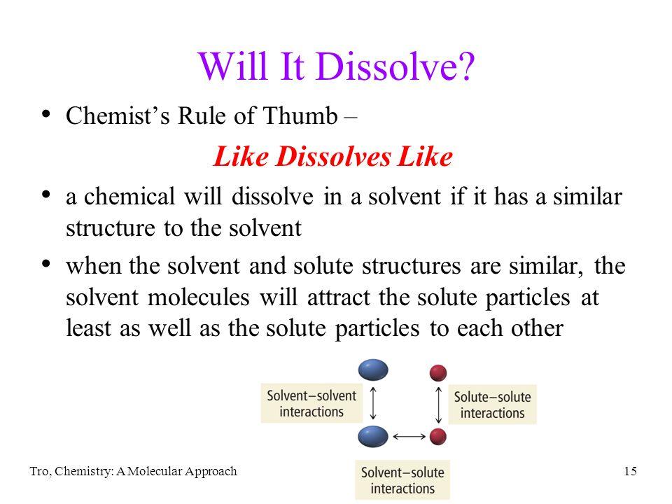 Will It Dissolve Like Dissolves Like Chemist's Rule of Thumb –