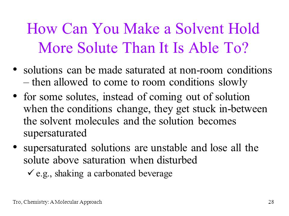 How Can You Make a Solvent Hold More Solute Than It Is Able To