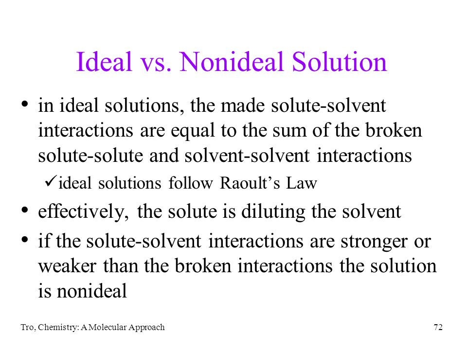 Ideal vs. Nonideal Solution
