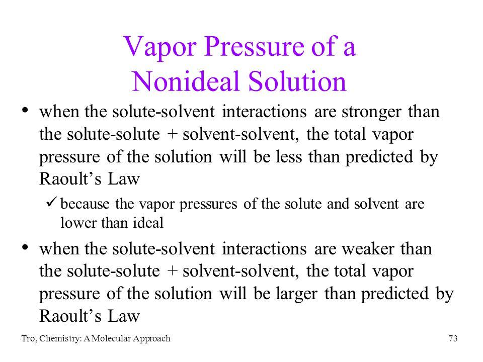 Vapor Pressure of a Nonideal Solution