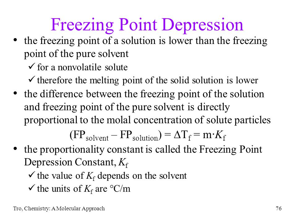 Freezing Point Depression