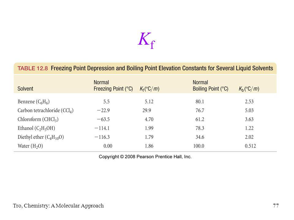 Kf Tro, Chemistry: A Molecular Approach