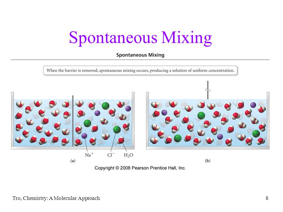Spontaneous Mixing Tro, Chemistry: A Molecular Approach