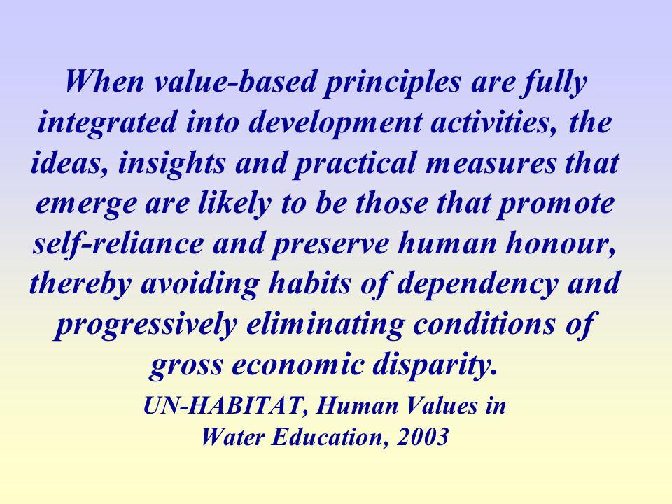 UN-HABITAT, Human Values in Water Education, 2003