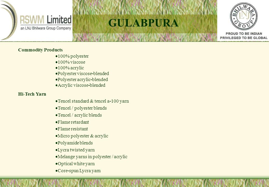 GULABPURA Commodity Products 100% polyester 100% viscose 100% acrylic