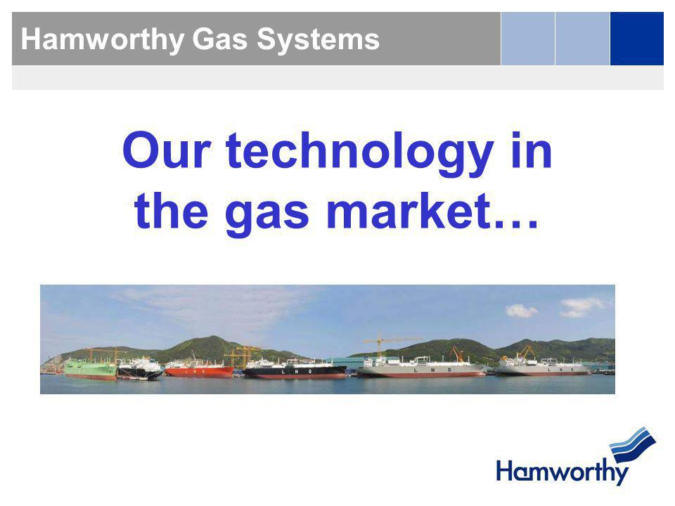 Our technology in the gas market…