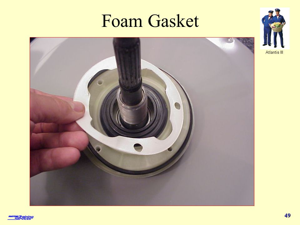 Foam Gasket 4/1/2017 Replace the foam gasket when reassembling.