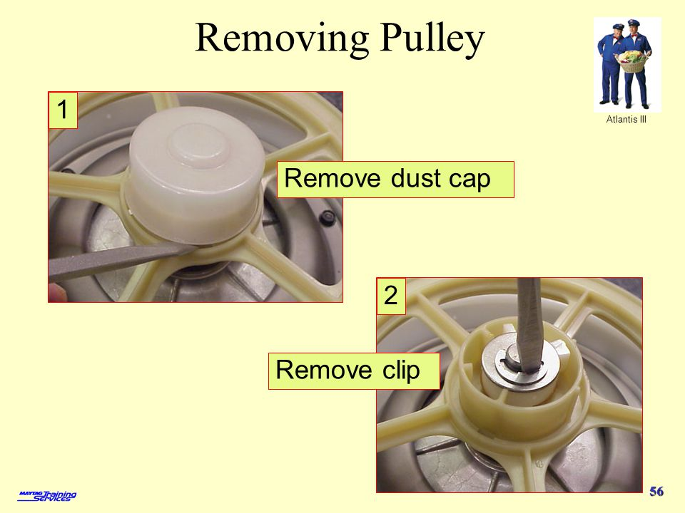 Removing Pulley 1 Remove dust cap 2 Remove clip 4/1/2017