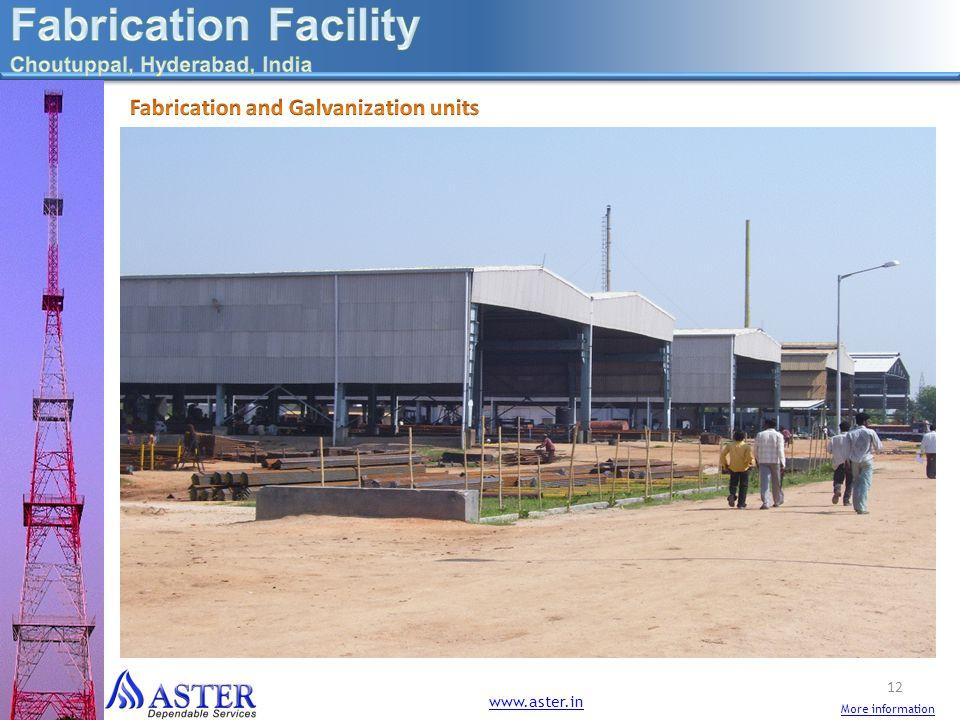 Fabrication Facility Fabrication and Galvanization units