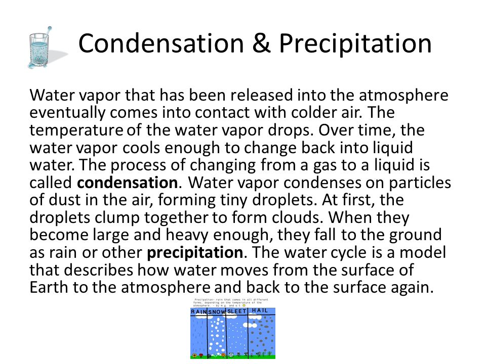 Condensation & Precipitation