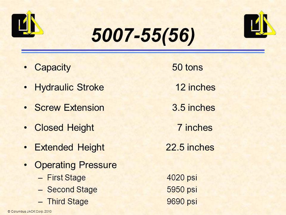 5007-55(56) Capacity 50 tons Hydraulic Stroke 12 inches