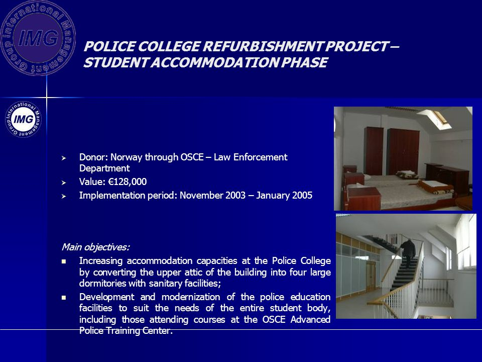 POLICE COLLEGE REFURBISHMENT PROJECT – STUDENT ACCOMMODATION PHASE
