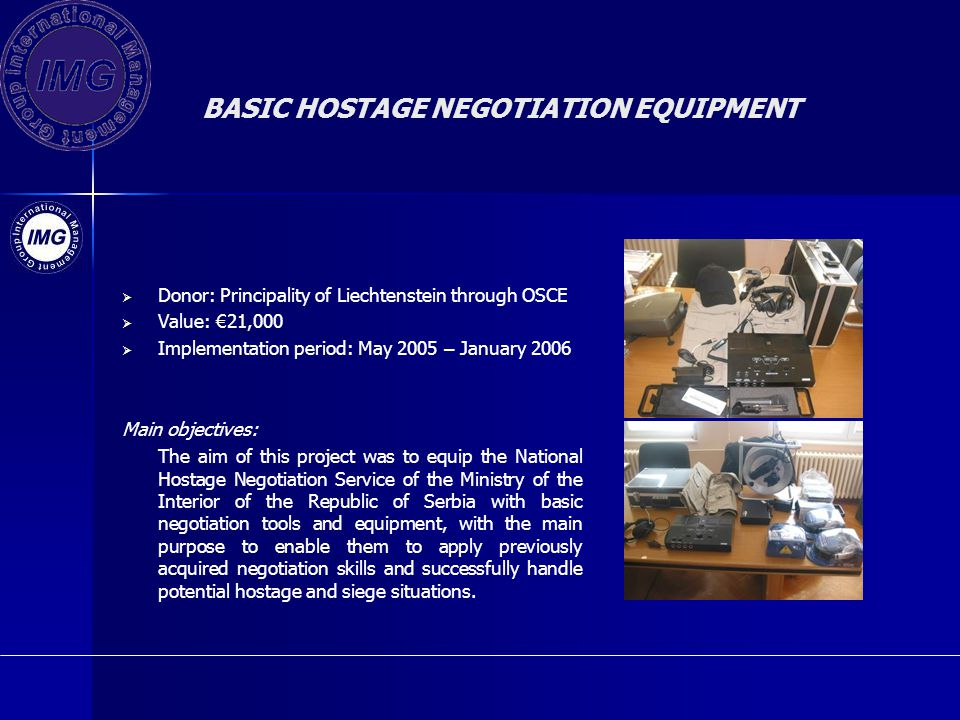 BASIC HOSTAGE NEGOTIATION EQUIPMENT