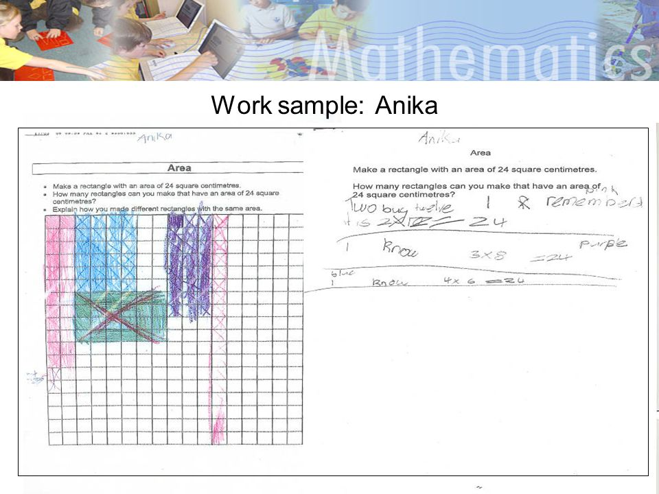 Work sample: Anika