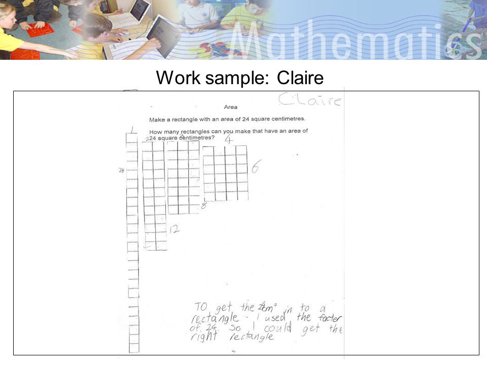 Work sample: Claire