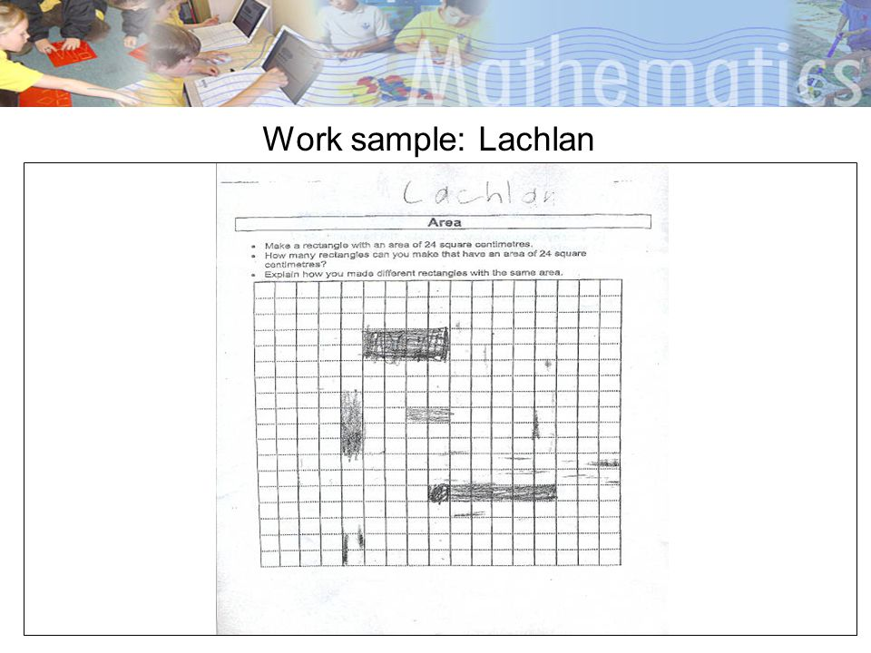 Work sample: Lachlan
