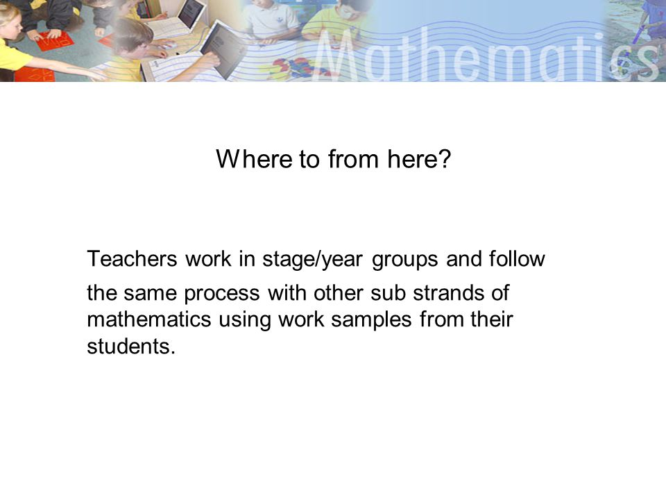 Teachers work in stage/year groups and follow