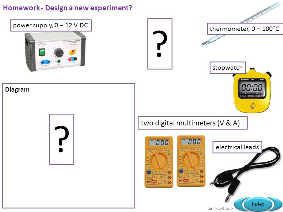 Homework - Design a new experiment